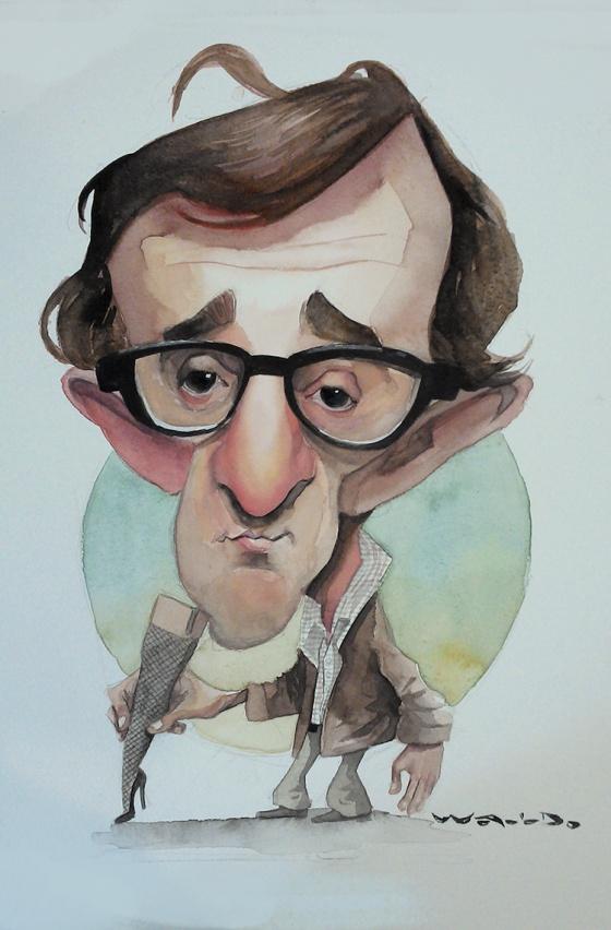 Woody Allen caricature, Waldo Matus